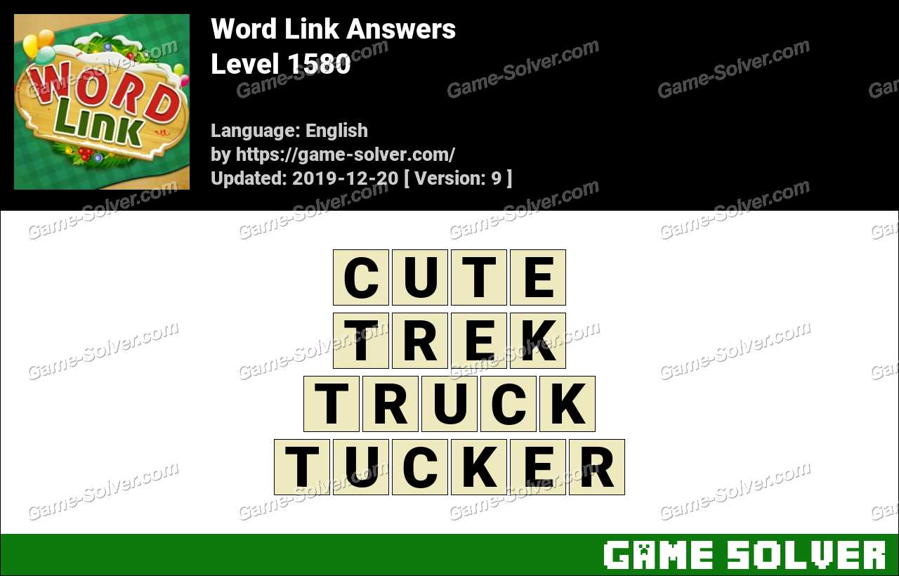 Word Link Level 1580 Answers