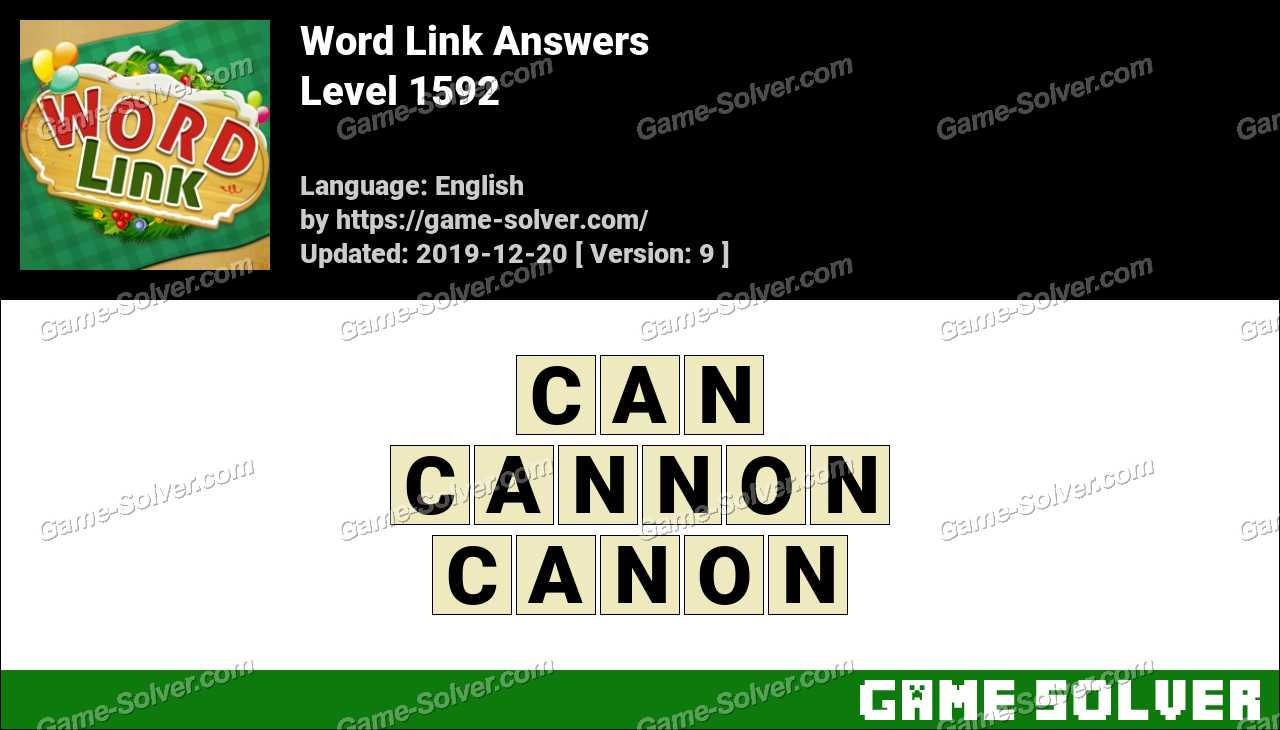 Word Link Level 1592 Answers