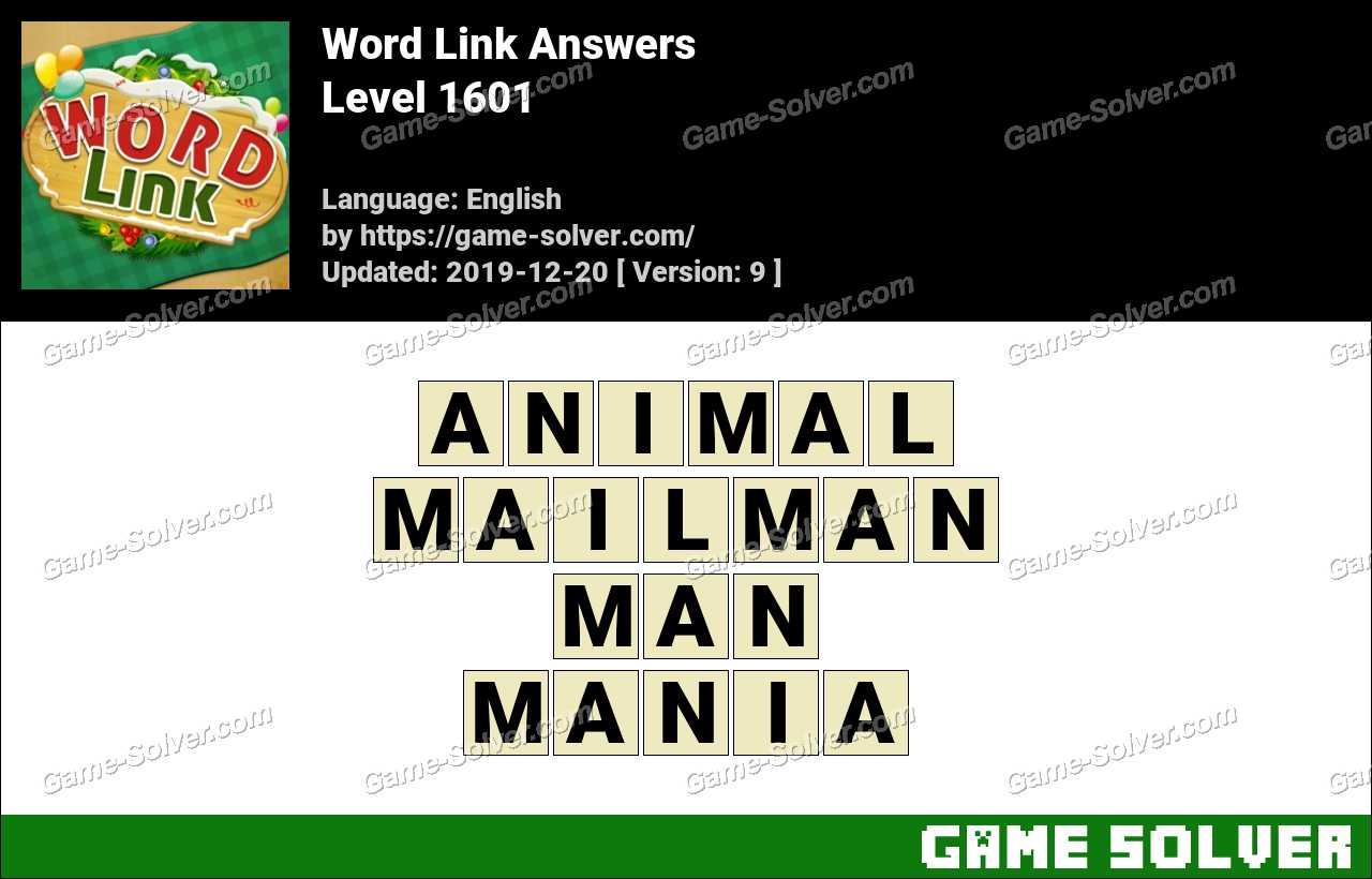 Word Link Level 1601 Answers