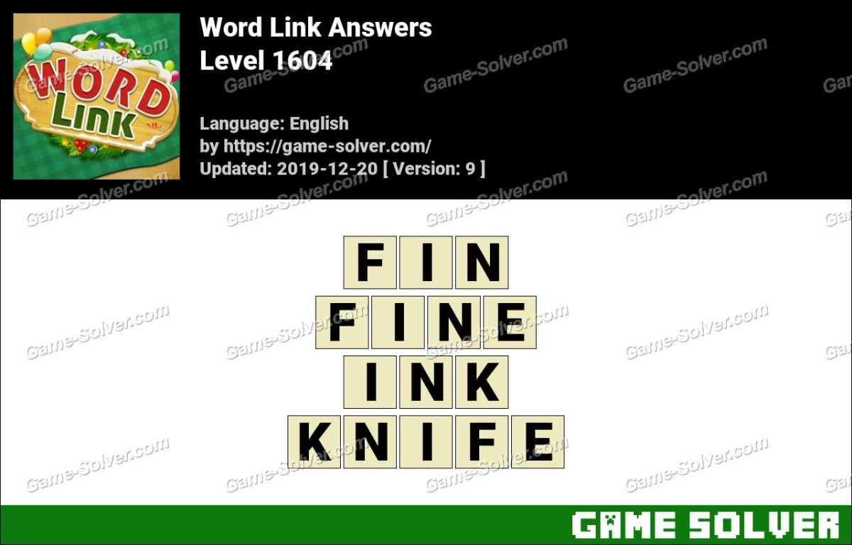 Word Link Level 1604 Answers