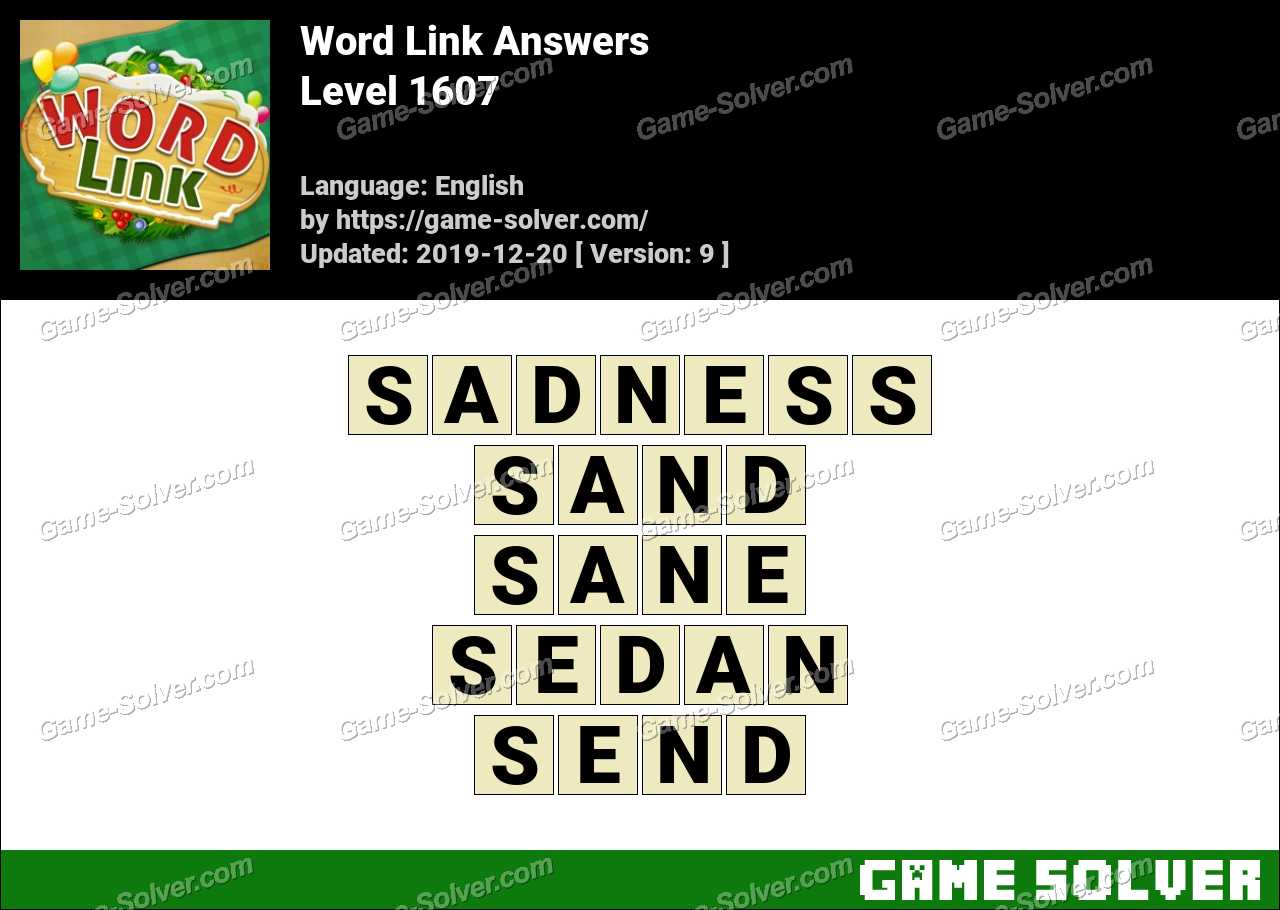 Word Link Level 1607 Answers