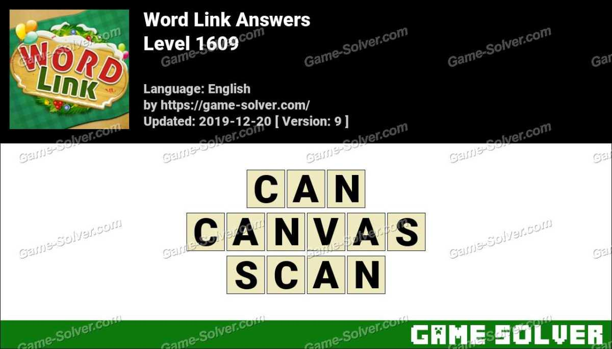 Word Link Level 1609 Answers