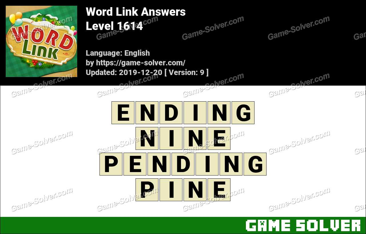 Word Link Level 1614 Answers