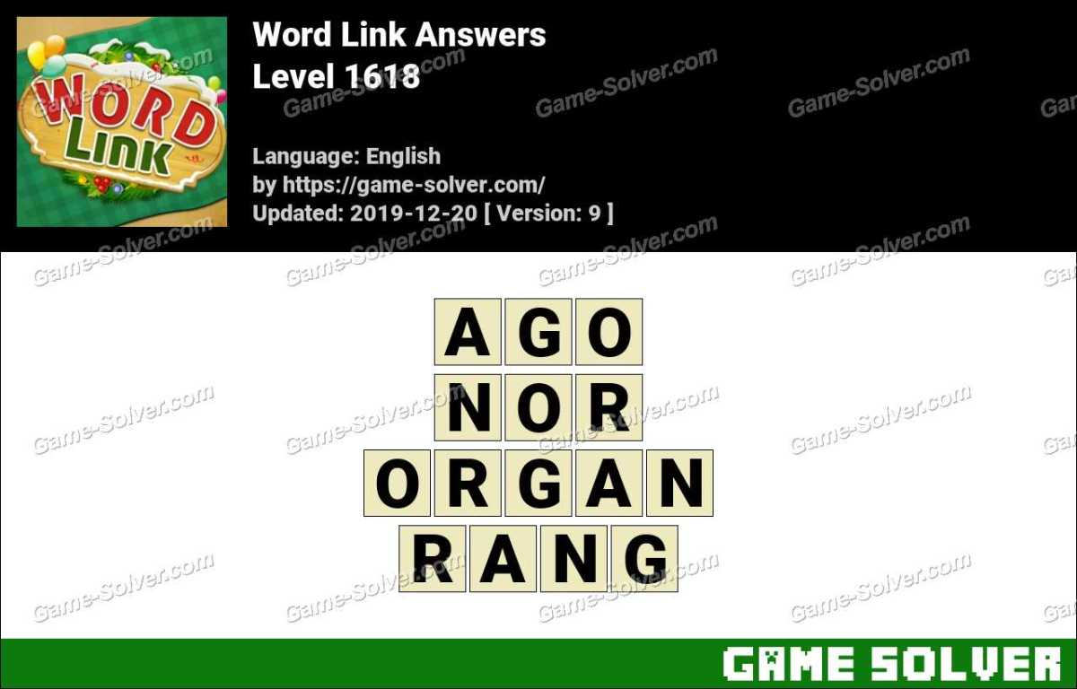 Word Link Level 1618 Answers