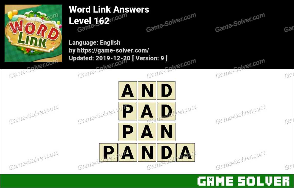 Word Link Level 162 Answers