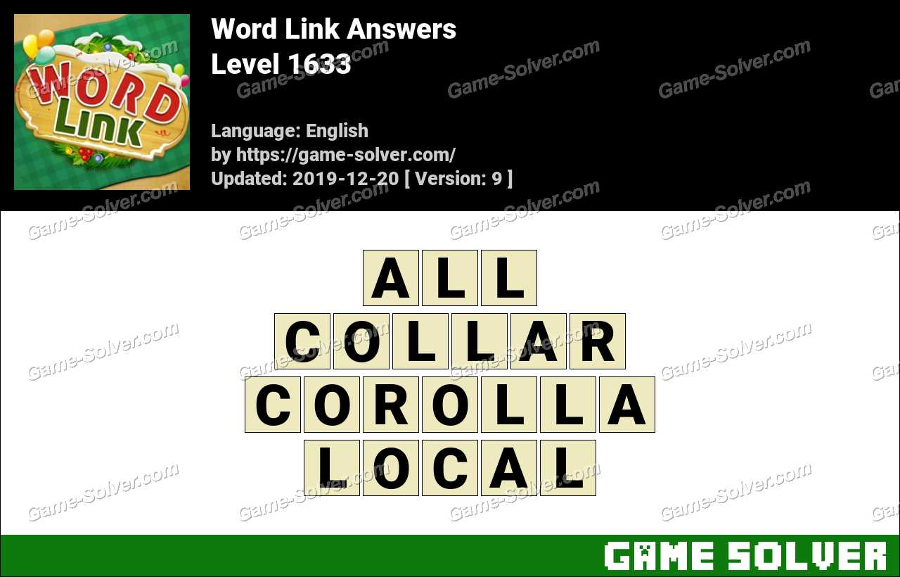Word Link Level 1633 Answers
