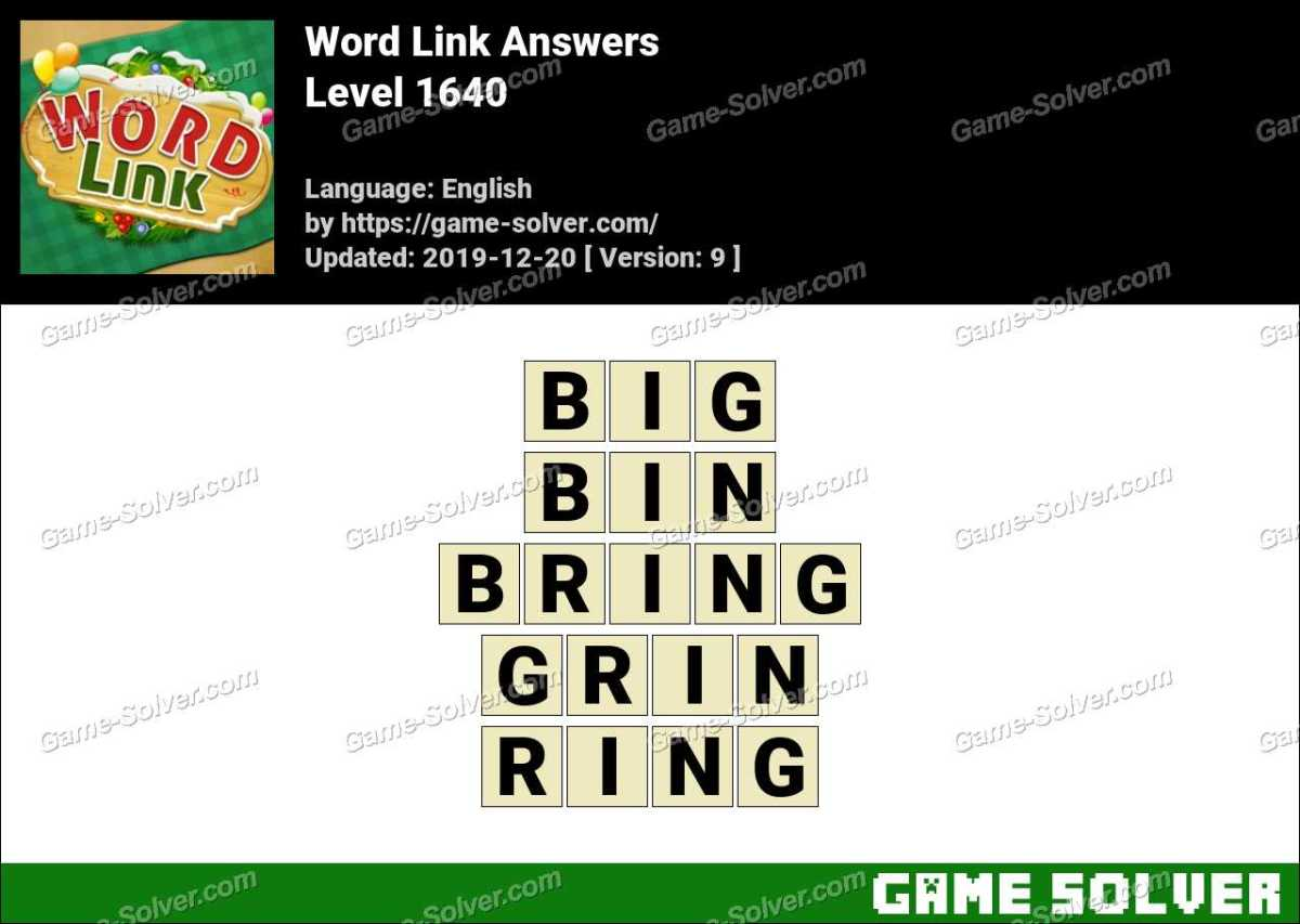 Word Link Level 1640 Answers