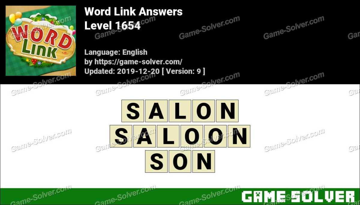 Word Link Level 1654 Answers