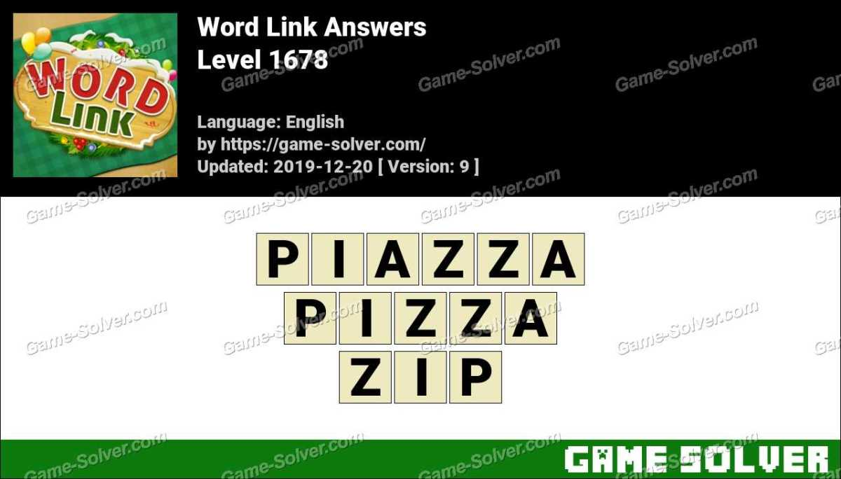 Word Link Level 1678 Answers