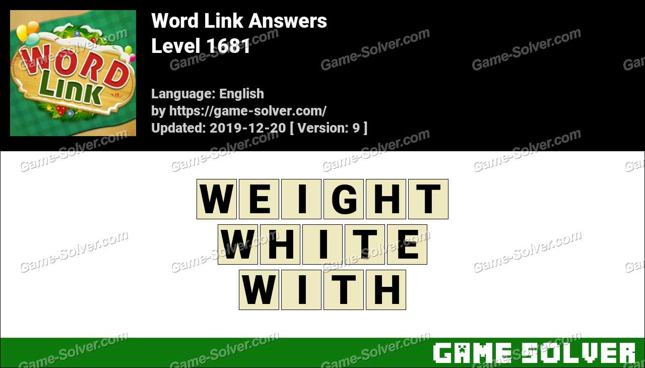 Word Link Level 1681 Answers