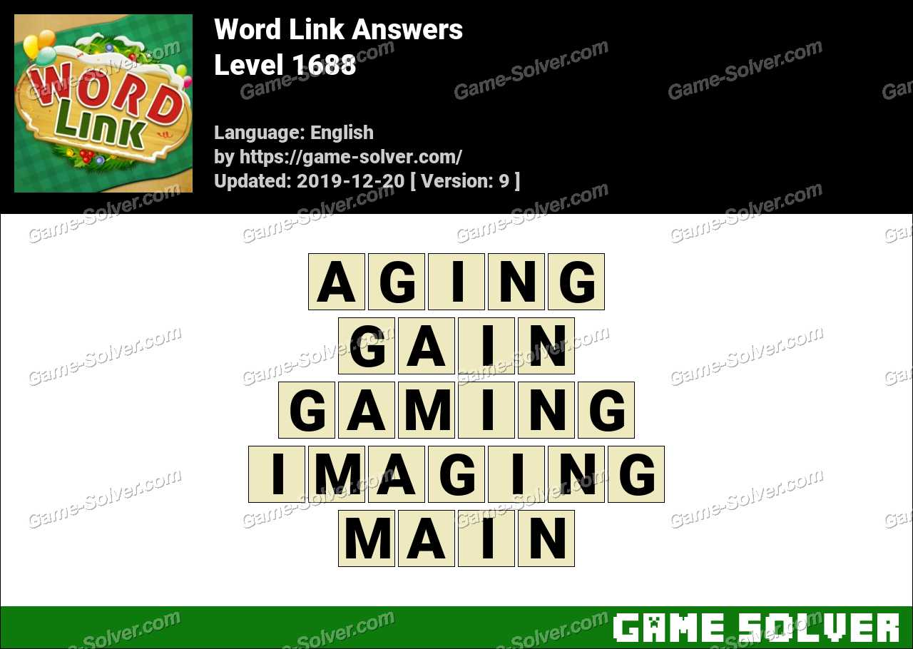 Word Link Level 1688 Answers
