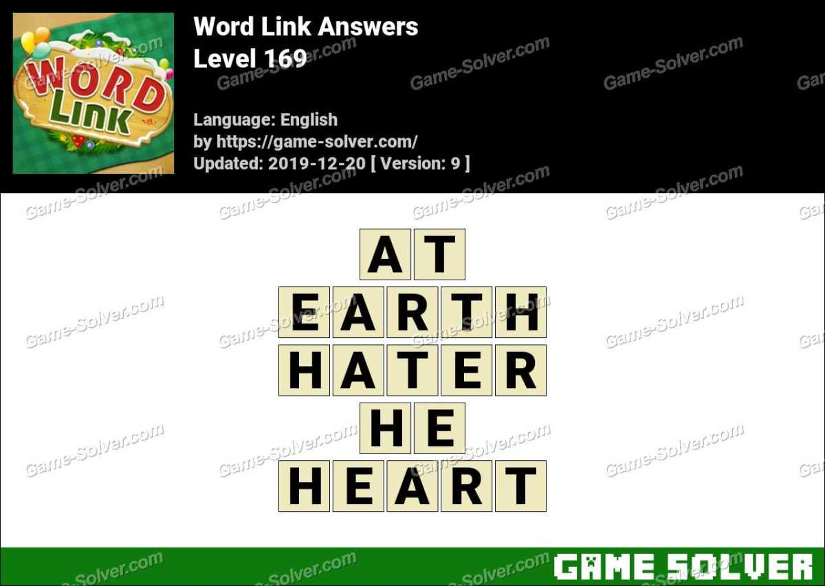 Word Link Level 169 Answers