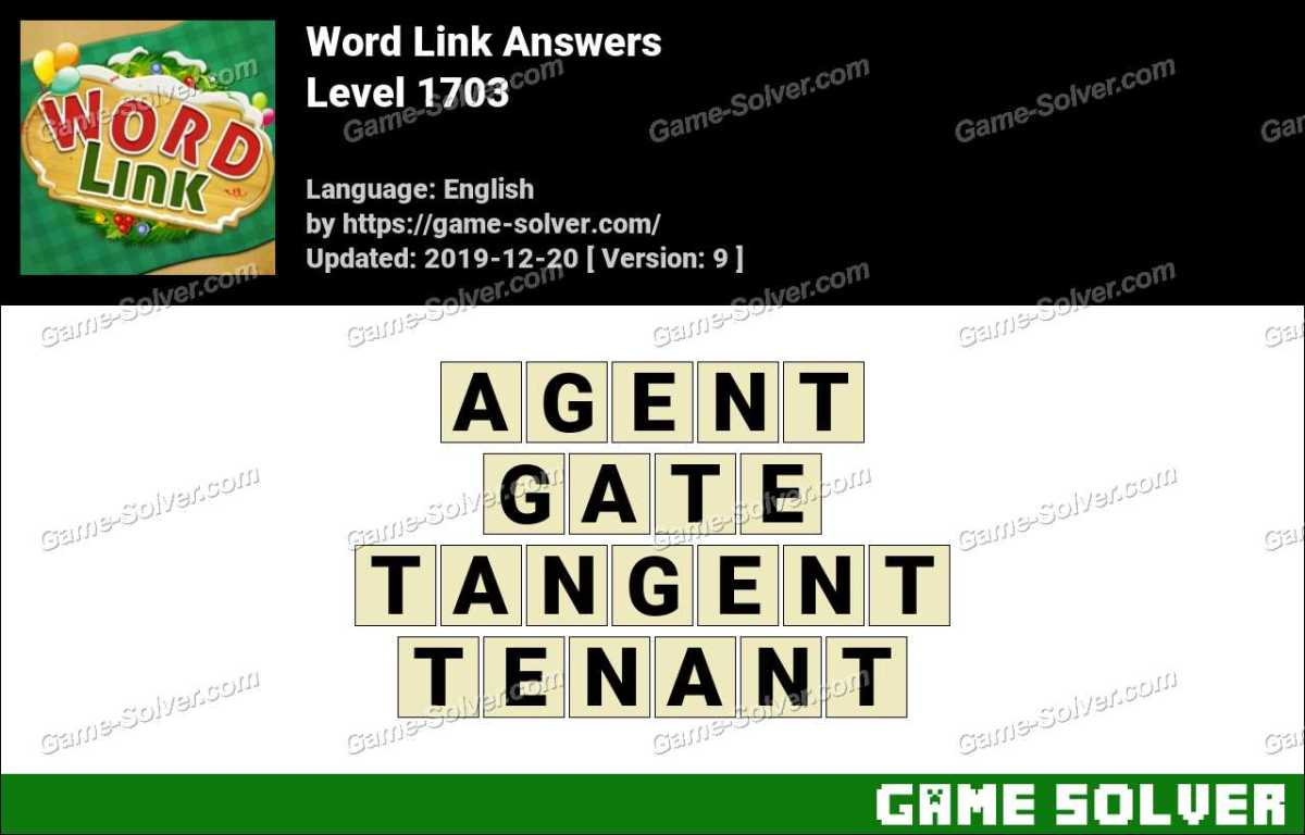Word Link Level 1703 Answers