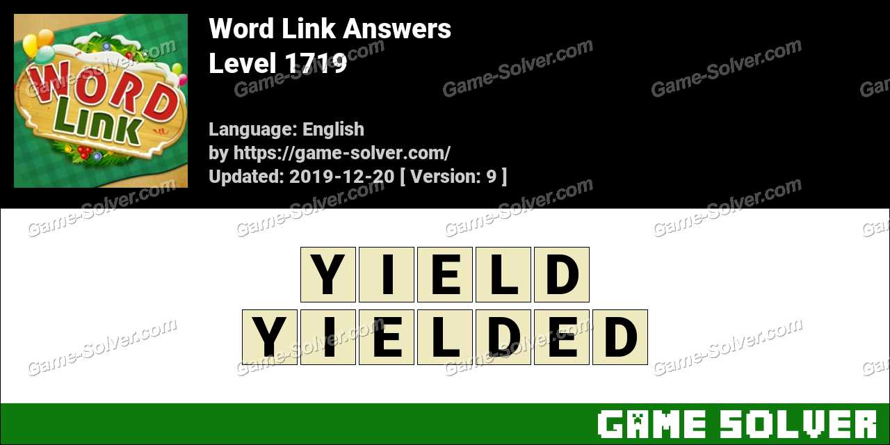 Word Link Level 1719 Answers