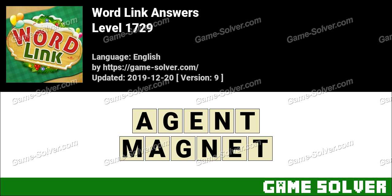 Word Link Level 1729 Answers