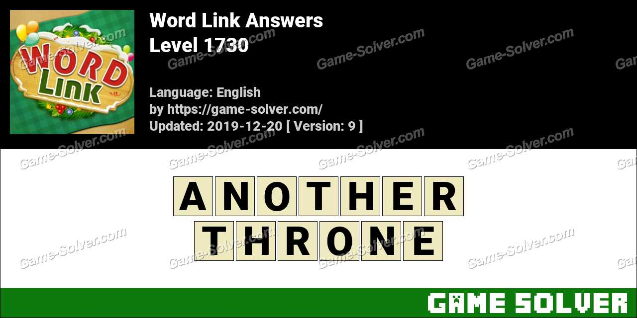 Word Link Level 1730 Answers