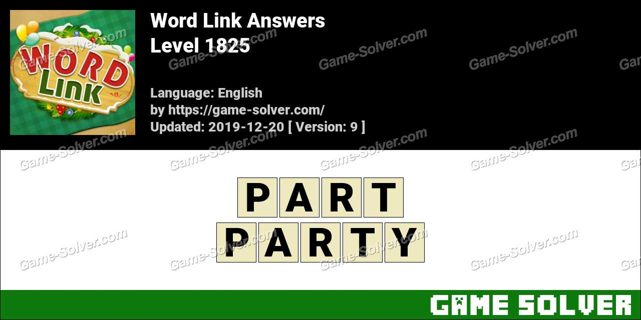 Word Link Level 1825 Answers