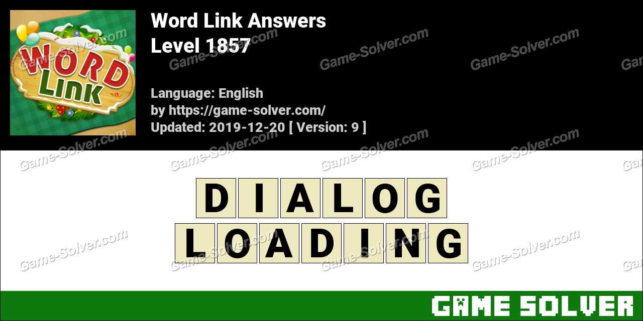 Word Link Level 1857 Answers