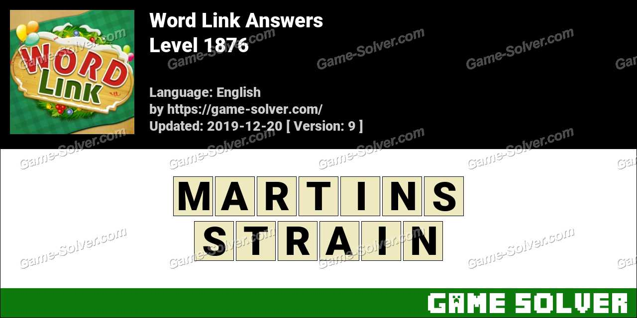 Word Link Level 1876 Answers