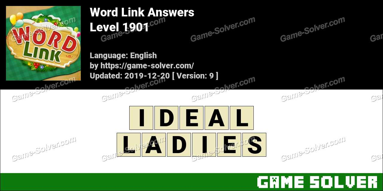 Word Link Level 1901 Answers