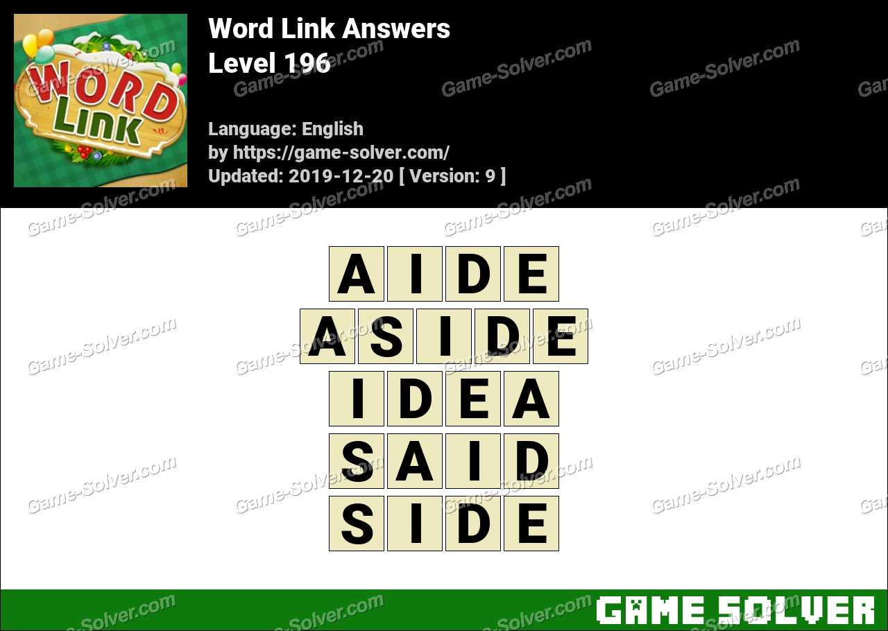 Word Link Level 196 Answers