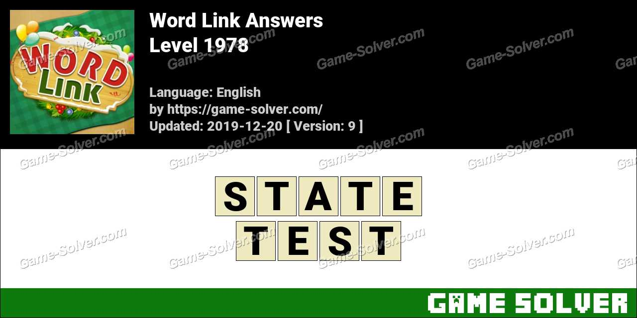 Word Link Level 1978 Answers