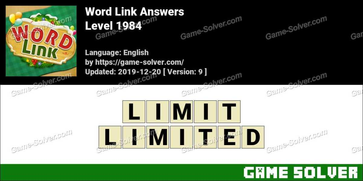 Word Link Level 1984 Answers