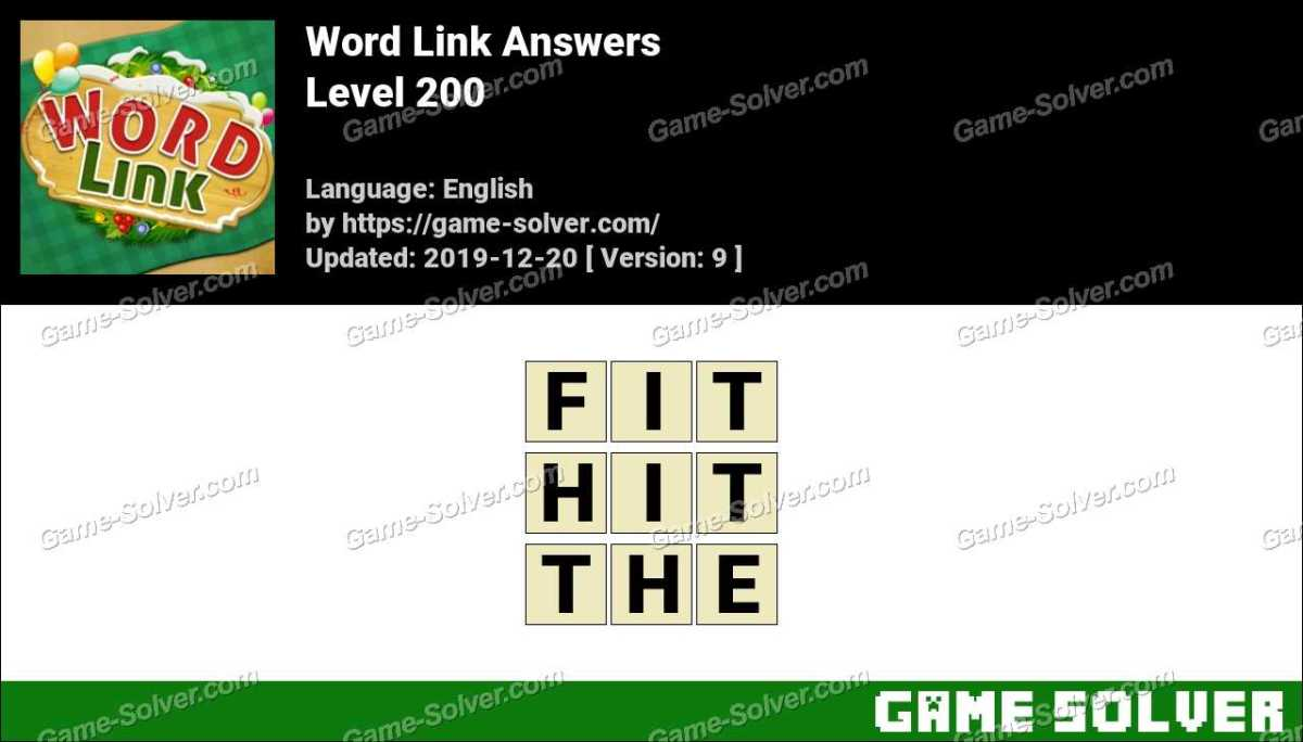 Word Link Level 200 Answers