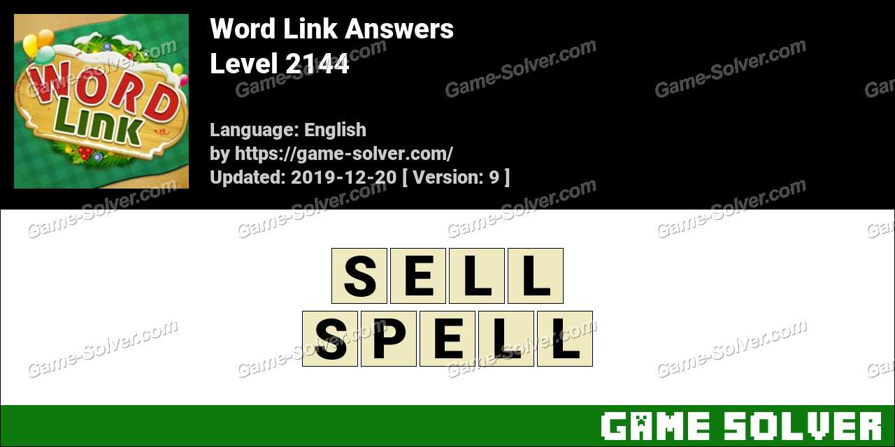 Word Link Level 2144 Answers