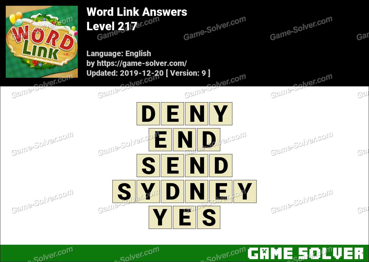 Word Link Level 217 Answers