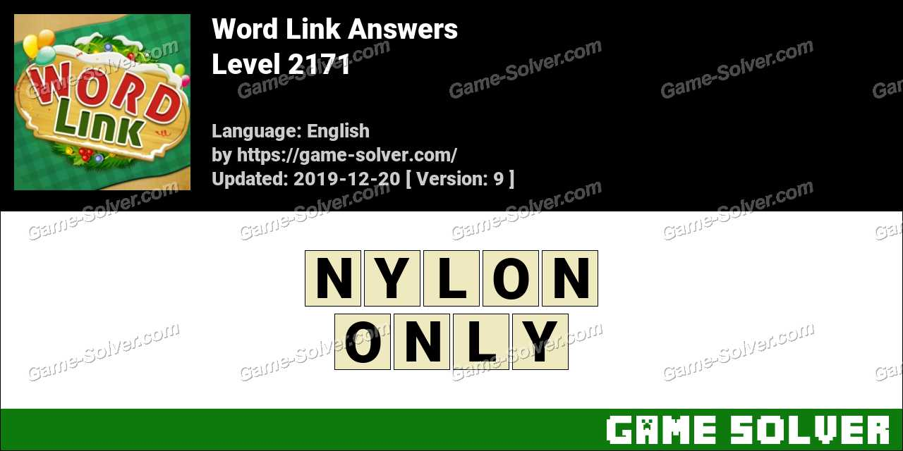 Word Link Level 2171 Answers