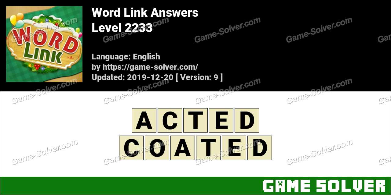 Word Link Level 2233 Answers