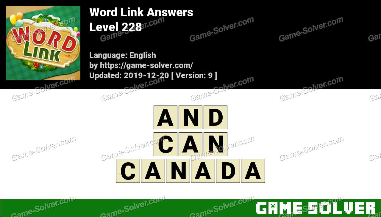 Word Link Level 228 Answers