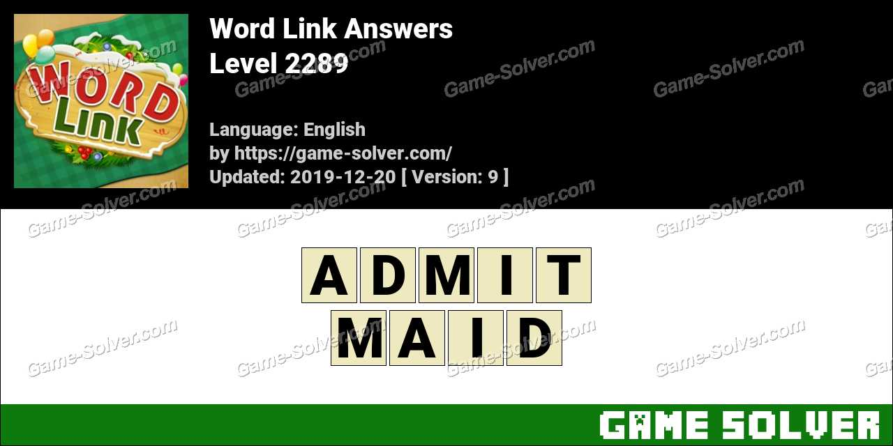 Word Link Level 2289 Answers