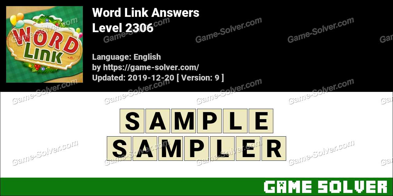 Word Link Level 2306 Answers