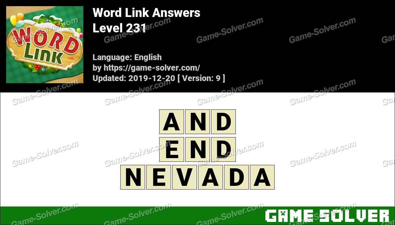 Word Link Level 231 Answers