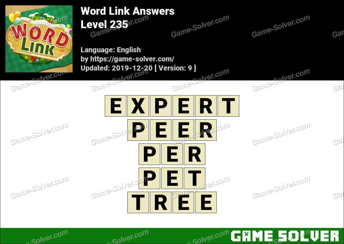 Word Link Level 235 Answers