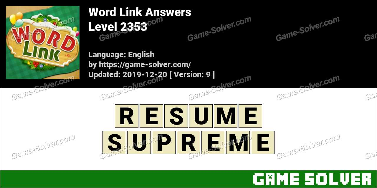Word Link Level 2353 Answers
