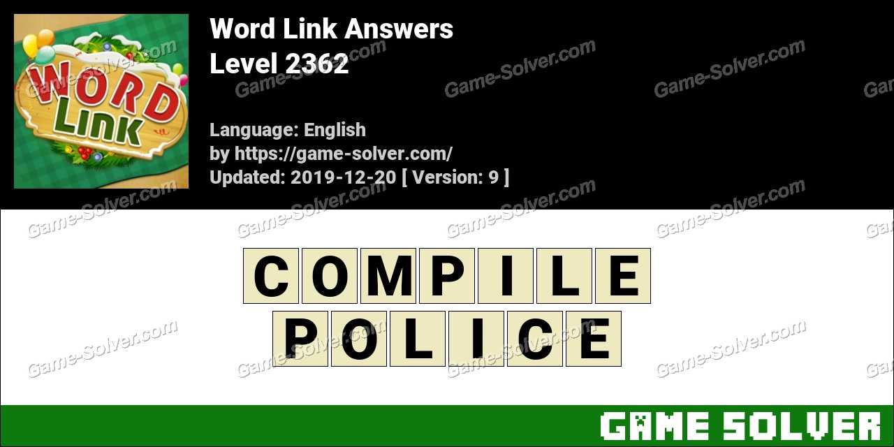 Word Link Level 2362 Answers