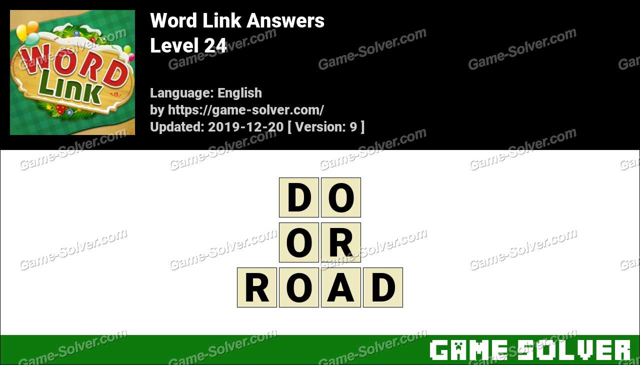 Word Link Level 24 Answers