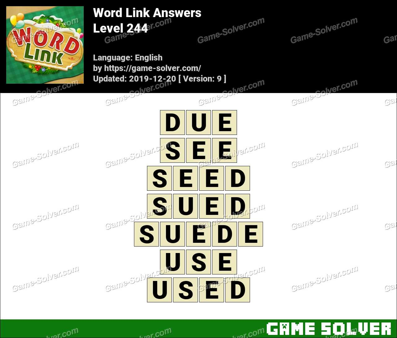 Word Link Level 244 Answers