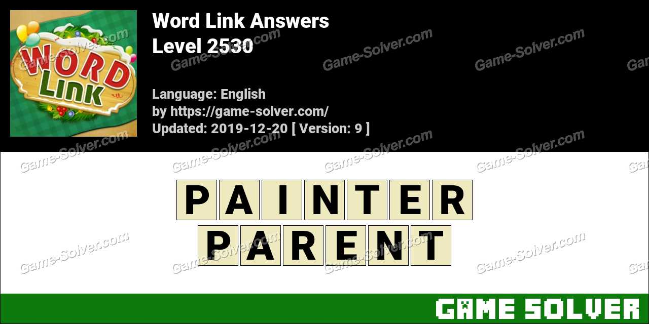 Word Link Level 2530 Answers