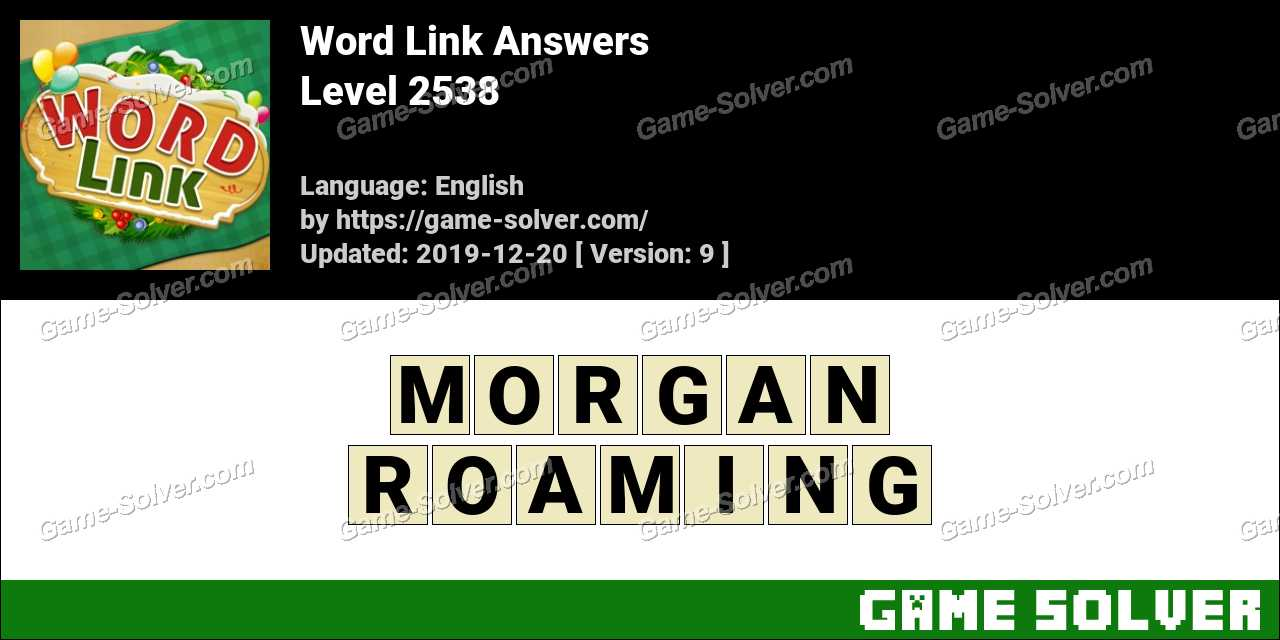 Word Link Level 2538 Answers