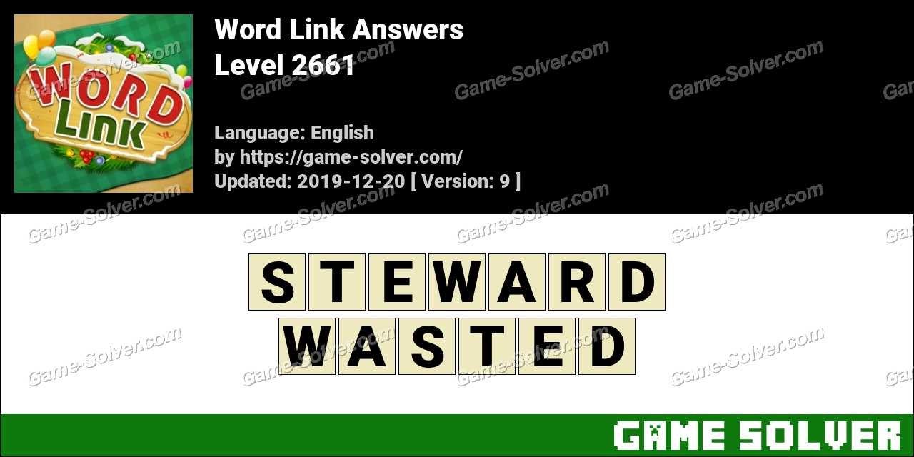 Word Link Level 2661 Answers