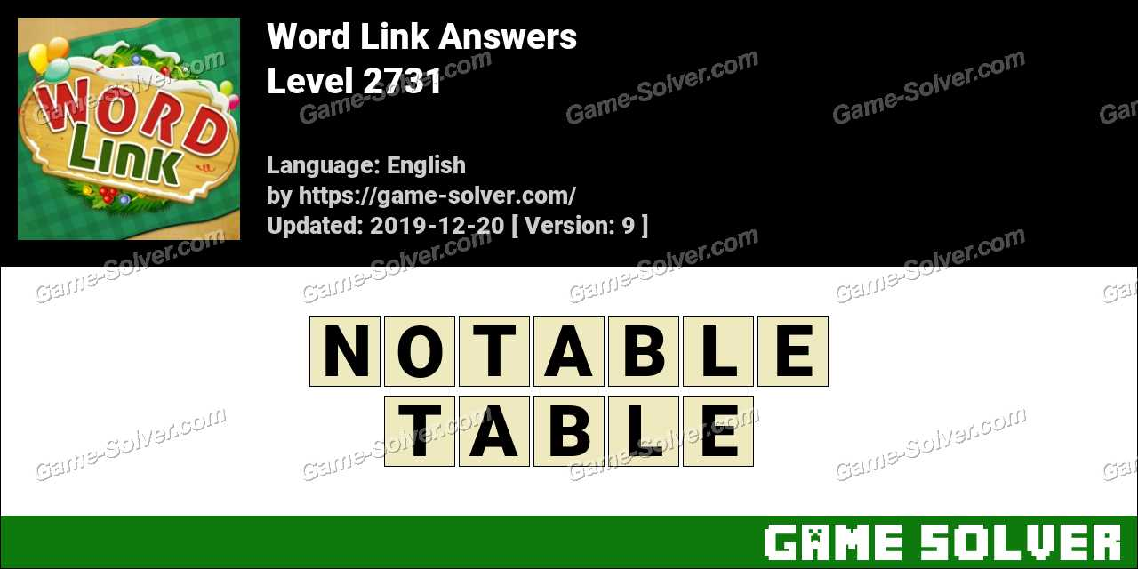 Word Link Level 2731 Answers