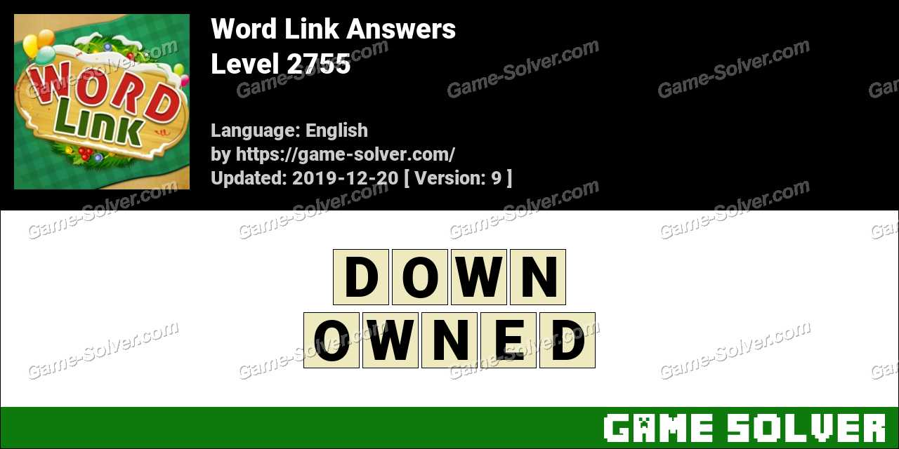 Word Link Level 2755 Answers
