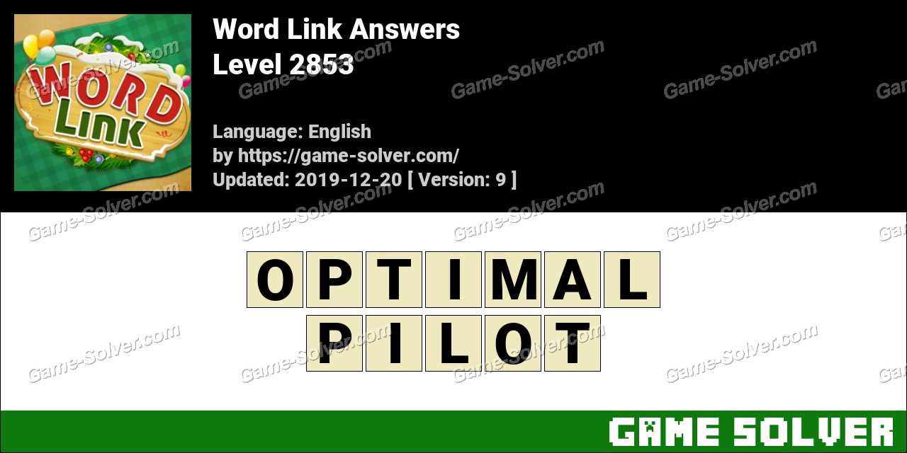 Word Link Level 2853 Answers