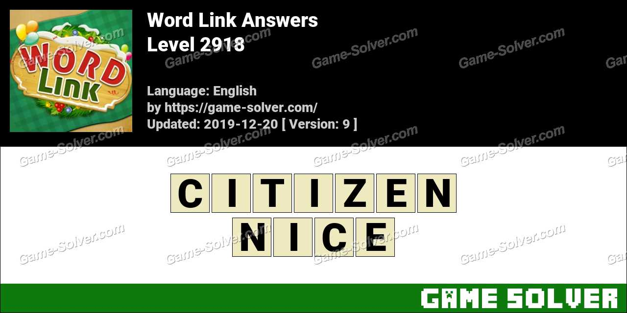 Word Link Level 2918 Answers