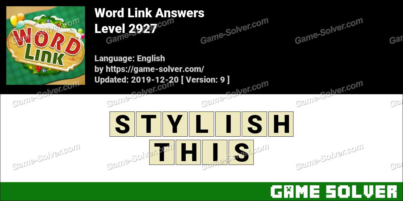 Word Link Level 2927 Answers