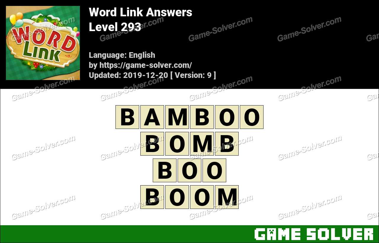 Word Link Level 293 Answers
